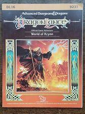 World of Krynn Dragonlance AD&D 1st Edition TSR 9237 DL16 1988 Dragon Lance