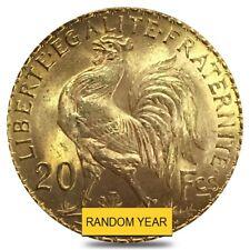 20 Francs French Rooster Gold Coin BU AGW .1867 oz (Random Year)