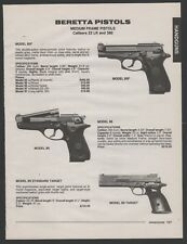 1994 BERETTA Model 85F, 86 and 89 Standard Target Pistol PRINT AD
