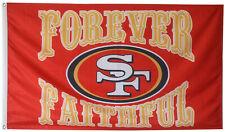 San Francisco 49ers Forever Faithful Flag Banner 3X5Feet Man Cave
