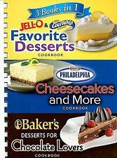 3 Books In 1: 3 Books in 1 Jell-O and CoolWhip Favorite Desserts/Philadelphia C…
