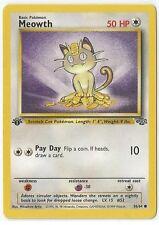 Pokemon 1st Edition Jungle set Meowth 56/64 common NM/M Condition