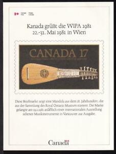 Canada WIPA 1981, mint International Philatelic Exhibition Card, Unitrade #1