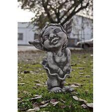 TROLL MÄDCHEN MALIN 51 cm STEINGUSS Stein Steinfigur Deko Garten Figur