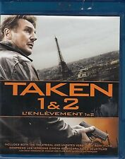 NEW  2BLU RAY SET  - TAKEN + TAKEN 2 - DOUBLE FEATURE - Liam Neeson