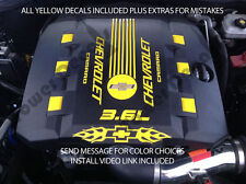 2010-2015 chevy camaro RS V6 engine cover decal set flames bowtie accessories