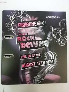 1 x Fishbone Motiv Ordner Herlitz Rock Deluxe DIN A4 breit 8cm! NEU + unbenutzt