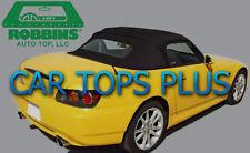"02-09 Honda S2000 Convertible Top & Heated Glass ""Robbins"" Black Stayfast Cloth"