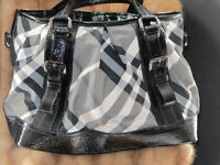 #STUNNING BURBERRY BEAT LOWRY NYLON TOTE BLACK purse handbag msrp $1395