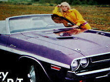 1970 DODGE CHALLENGER R/T CONVERTIBLE PRINT AD-poster/picture/art-1971-1972-1973