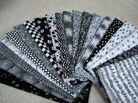 20 Fat Quarter Quilt Fabric Lot -  Black & White Stash A1