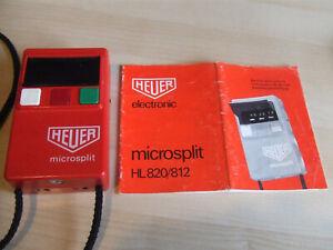 Rare Genuine Vintage HEUER Stopwatch Microsplit HL820 / 812 & Instructions