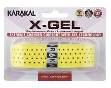 Karakal X-Gel Replacement Grip - Tennis - Yellow Badminton - Squash Grips Gel