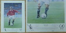 Phil Neville by Keith Fearon Signed Ltd Ed 156/495 Man Utd Artist Print (10453)