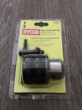 """Ryobi 1/2"""" drill chuck and key, new in package.  Free ship"""