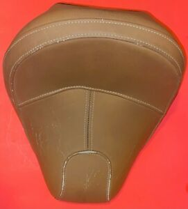 OEM Indian Scout Tan Leather Driver Seat OEM