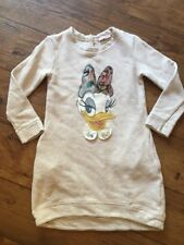 Monnalisa Sweat Dress Daisy Duck 6 Years Diamante Beaded Beige Monna Lisa