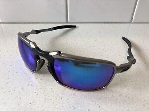Oakley Badman 006020-04 Sunglasses Polarized Iridium