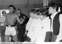 "BEATLES & CASSIUS CLAY POSTER ""MIAMI BEACH 5th STREET GYM 1964"""