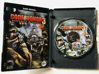 Code of Honor 3: Desperate Measures (PC, 2009) Complete w/ Manual