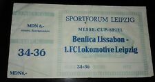 Ticket bilhete 21.12.66 1.FC Lok Leipzig Benfica Lisboa Lissabon Eintrittskarte