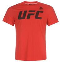 Reebok Official UFC Mens Red T-Shirt NEW (Size's M,L,XL,XX-L)