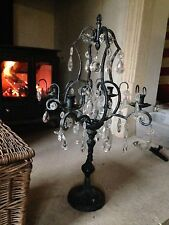 Antique metal crystal candelabra, Christmas decoration
