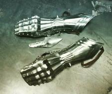 Medieval Gauntlets pair 20 G Antiqued Battle ready Gauntlets Pair
