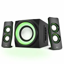Cyber Acoustics Bluetooth Speakers LED Lights  Multimedia 2.1 Subwoofer Speaker