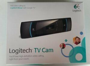 Logitech TV Cam HD Webcam 720 Widescreen Video Calls Google TV OPEN BOX