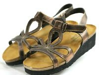 Naot Women's $120 Ankle Strap Sandals Size US 5-5.5 EU 36 Leather Brown