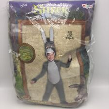 Shrek Donkey Deluxe Halloween Costume Disguise Child Small 4-6 Dreamworks New
