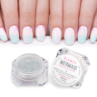 MERMAID Magic Effect Glitter Nail Art Powder Dust Glimmer Hot Nails Iridescent