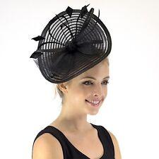 New JENDI BLACK Ladies Formal Spring Racing Fascinator Headband 4 Derby Cup Day