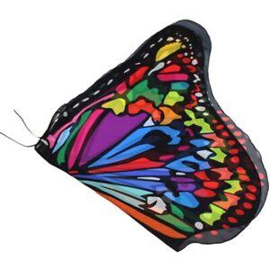 Kids Girl Fairy Butterfly Wings Costume Pixie Cloak Shawl Cape Party Fancy Dress
