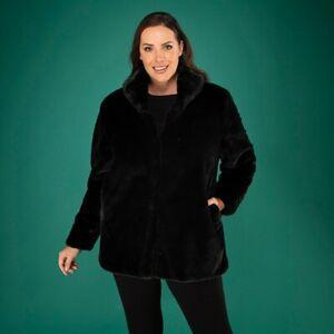 Stolen Heart Faux Fur Coat black, navy, oyster M 12-14, L 16-18 uk