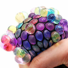 Anti Stress Face Reliever Mesh Grape Ball Squeeze Autism Mood Toy Relief O5 X2O9