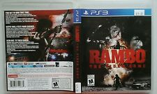 Rambo: The Video Game (Sony Playstation 3, 2014) Free Shipping!