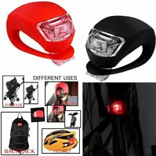 4pc Led Silicone Mountain Bike Bicycle Front Rear Lights Push Cycle Clip Light A