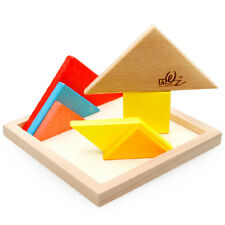 Wooden puzzle jigsaw puzzle IQ brain game educational toy gift colorful imagine