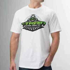 New Arctic Cat / Tucker Hibbert - Men's T-Train 68 T-Shirt~ White~XL~ # 5263-146