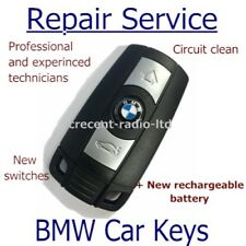BMW 3 BUTTON REMOTE KEY FOB REPAIR SERVICE WITH NEW RECHARGEABLE BATTERY