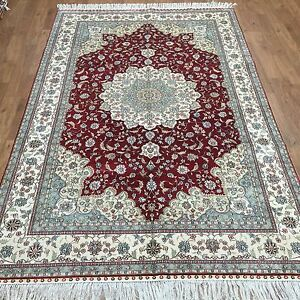 Yilong 5'x8' Square Oriental Handmade Turkish Silk Carpet Hand Knotted Rugs W17B
