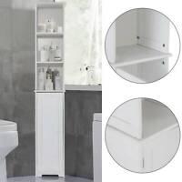 New White Furniture Bathroom Wooden Cabinet Shelf Cupboard Bedroom Storage Unit