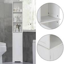 New White Furniture Bathroom Wooden Cabinet Shelf Cupboard Bedroom Storage Unit