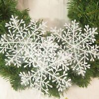 30pcs White Snowflake Ornaments Christmas Tree Decorations Home Festival Decor