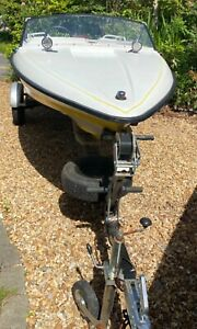 Fletcher Ski Boat Unfinished Project With Trailer and Engine Lots Of Extras