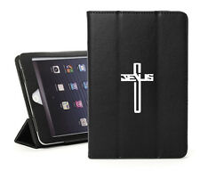 For Apple iPad 2 3 4 Air Mini Pro Leather Smart Case Cover Stand Jesus Cross