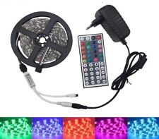 LED Strip Light 5050 Tape RGB Waterproof Ribbon With Controller And Adapter Sets