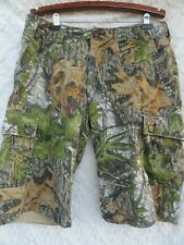 Wear First Camo Shorts 36 Waist Cotton Green Brown Gray Fall Hunting Camouflage